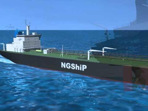 RENDERING [IT] Gas naturale e celle a combustibile per navi da carico più ecologiche