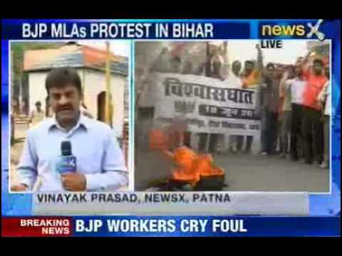 workers; - NewsX: The State-wide bandh called by BJP has turned violent. Many are injured as BJP and JDU workers clash in Patna. BJP protesters have taken to roads acro...