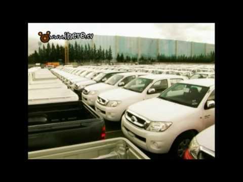 ฟอร์จูนเนอร์ใหม่ - พี่แพรพาไปดูงานฉลองส่งออกรถยนต์โตโยต้าครบคันที่ 1 ล้าน ที่แหลมฉบัง...