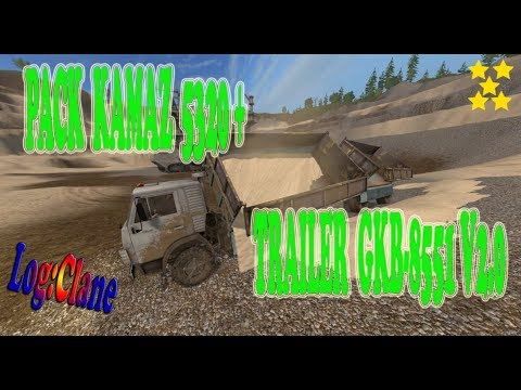 Pack Kamaz 5320 + Trailer GKB-8551 v2.0