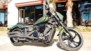 8. 2015 Yamaha Stryker Bullet Cowl Green
