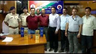 RPF siezed 30 bottles of liquor at two diffent trains