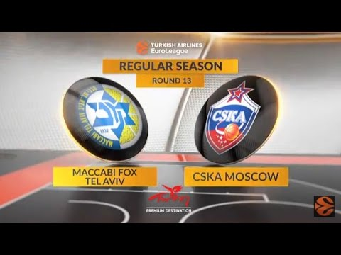 EuroLeague Highlights RS Round 13: Maccabi FOX Tel Aviv 76-80 CSKA Moscow