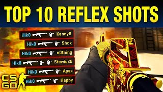 CS:GO [ https://csgoempire.com/r/guides ] These CS:GO Inhuman Reaction Shots Are absolutely insane. If you enjoy some of the best Pro CS:GO Moments you are for sure going to enjoy this CS:GO Top 10 Video! We go over some of the most famous CS:GO Pro Moments In The History of Counter Strike Global Offensive.Pro CS:GO players generally have an insane reaction time. This helps with some of their inhuman reaction moments, although sometimes it's just half luck. Seeing as these reaction moments are so difficult to do, they're often not easy to see live. Fortunately for you, we'll be picking out the top ten inhuman reaction moments from pro CS:GO players. Without any further delay, let's get right into these. ▼ STAY CONNECTED! ▼Follow Us on Social Media!★ Twitter: http://Twitter.com/UltraGuides★ Discord: https://discord.gg/ultra★ Twitch: http://Twitch.tv/UltraGuides___That just about does it for this video guys, if you liked Top 10 CS:GO Inhuman Reaction Moments, hit that like button, if you want to see more videos like this as they are made public, subscribe. If you want to enter in some sick giveaways, you can follow us on twitter @UltraGuides. If you wanna hang with me and the other UG members, you can join our Discord server.  Thank you so much for staying till the end of the video. Stay amazing, and we will see you, in the next one.