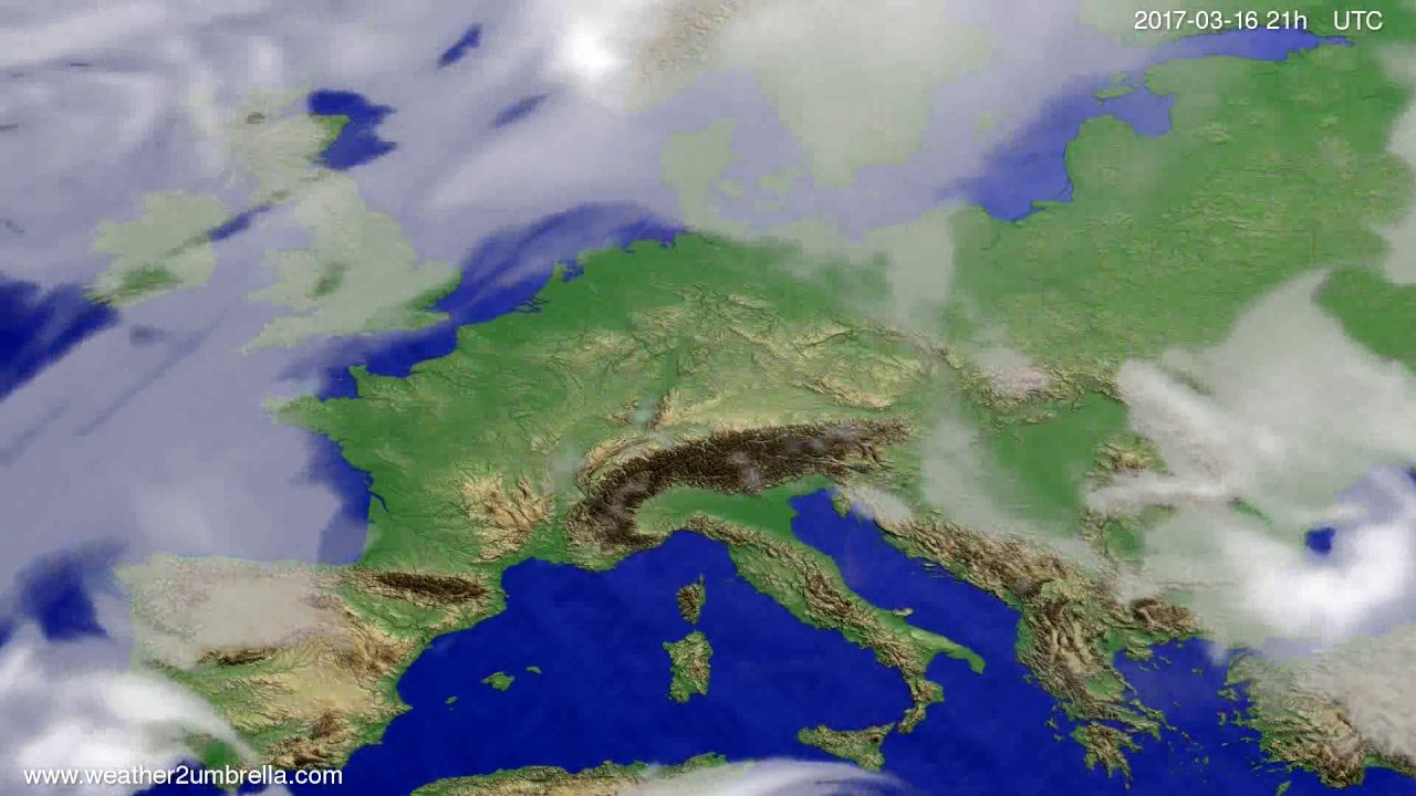 Cloud forecast Europe 2017-03-13