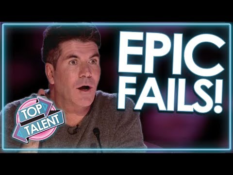 Auditions Gone WRONG! EPIC FAIL Compilation! | Top Talent (видео)
