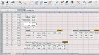 Step-wise regression tutorial in Excel