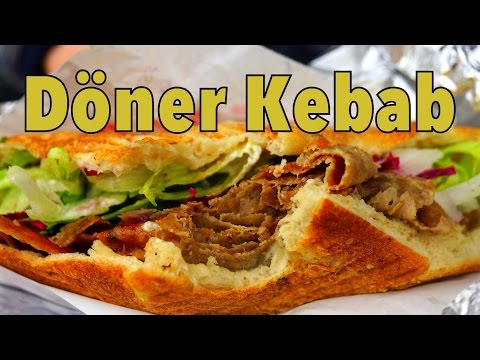 Eating Döner Kebab in Berlin