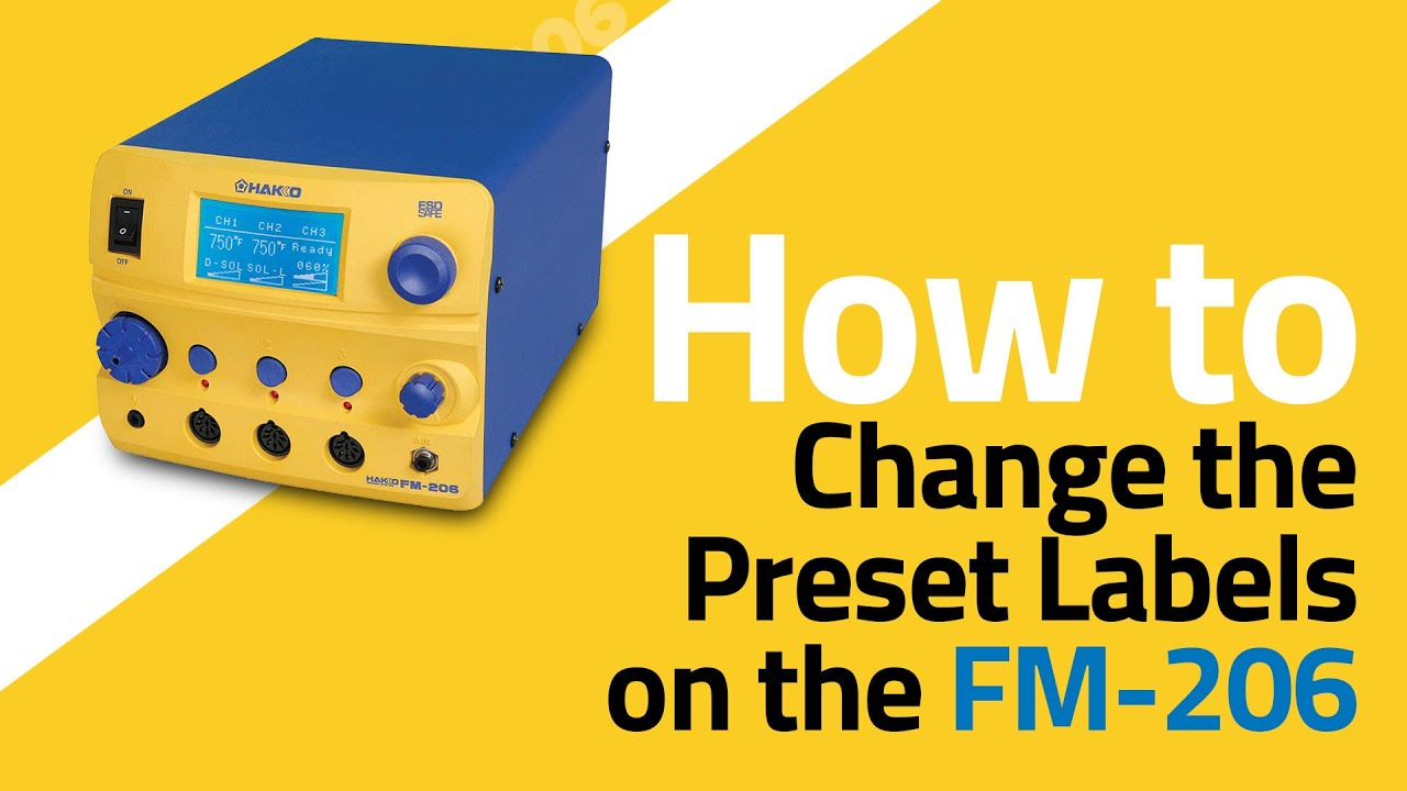 FM-206 How To Change the Channel Preset Labels