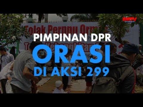 Pimpinan DPR Orasi Di Aksi 299