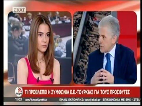 Ο Επικεφαλής της Αντιπροσωπείας της ΕΕ στην Ελλάδα κ. Πάνος Καρβούνης στον ΣΚΑΙ (21.03.2016)