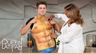 Zac Efron Shows Off His Abs... Sort Of.   The Queen Latifah Show
