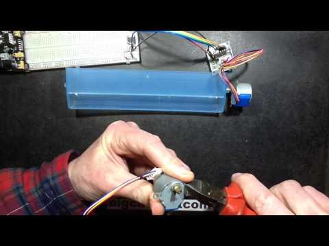 Mini geared stepper motor test and teardown.