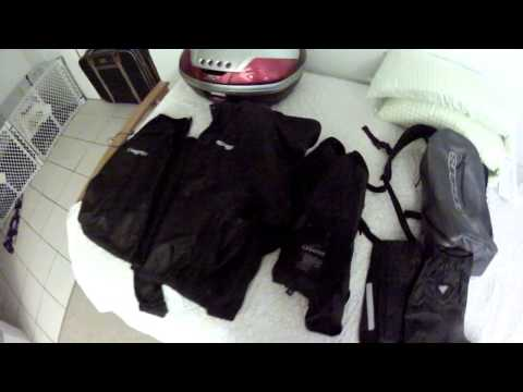 First Motorcycle: Rain Gear and Waterproof Luggage Options