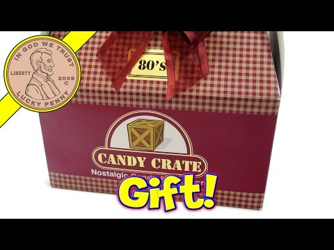 box - We get a cool gift from Candy Crate! This is one of their nostalgic candy gift boxes loaded with tasty candy! Buy Here ▷ http://luckypennyshop.com/candy-crate-1980s-classic-retro-candy-gift-box...