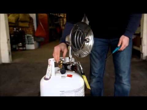 14,000 BTU Tank-Top Propane Radiant Heater How-To Video by PARALLEL RENTALS INC.