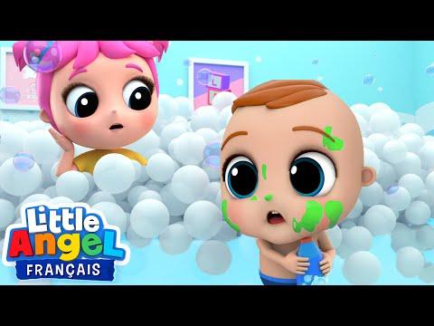 La Chanson du Bain - Frotte Frotte - Comptines pour Bébé| Little Angel Français