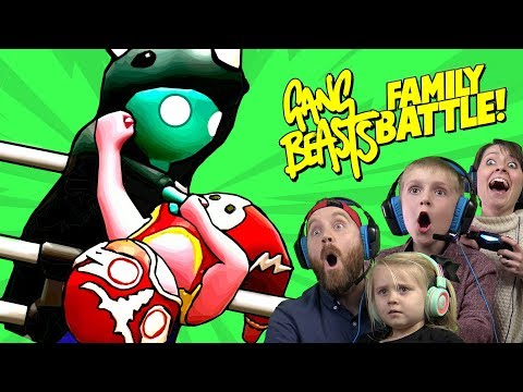 Gang Beasts Family Battle! ft. CAPTAIN SLAMMO | KIDCITY GAMING