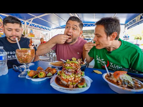 Play this video Mexican Street Food - SEAFOOD TOWER!! р Burritos, Tacos  Ceviche in Tucson, Arizona!!