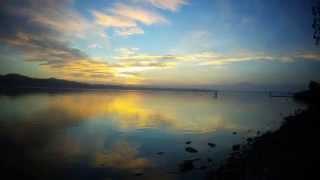 Tramonto del 9 novembre 2015 dal lago di Varese, in Time Lapse