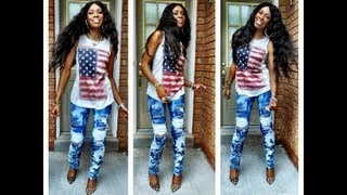 Tie Dye Jeans with Bleach... DIY - YouTube