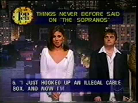 THE SOPRANOS Top 10 Late Show David Letterman - Entire Cast