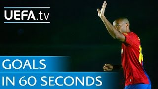Retired players in 2014: Goals in 60 seconds