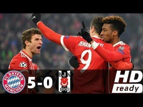 Bayern Munich vs Besiktas 5-0 Goals & Highlights 20/02/2018 UCL