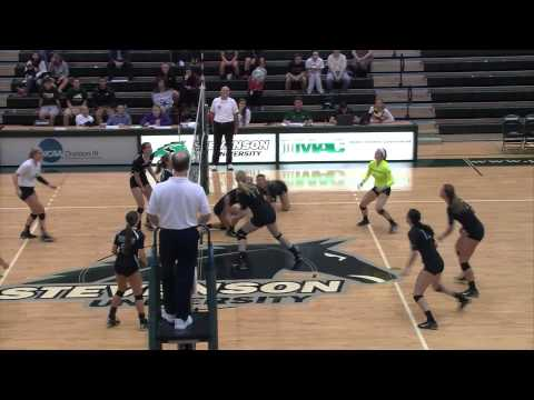 Women's Volleyball Highlights: Stevenson vs. #19 Eastern
