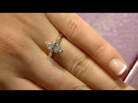 1.00 Carat Marquise Solitaire Engagement Ring SR1042