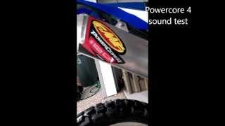 5. FMF Powercore 4 and FMF Q4 Sound level/weight comparison on a Yamaha WR250R
