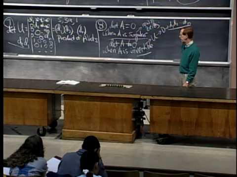 Lec 18 | MIT 18.06 Linear Algebra, Spring 2005