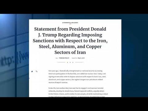 Ντόναλντ Τραμπ: Νέες κυρώσεις κατά της Τεχεράνης