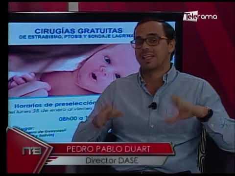 Cirugías gratuitas de estrabismo, ptosis y sandaje lagrimal