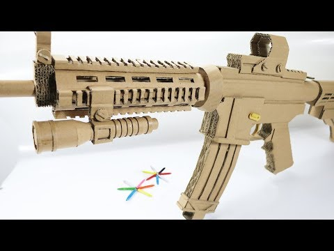 Powerful Shoots | How To Make Cardboard Gun