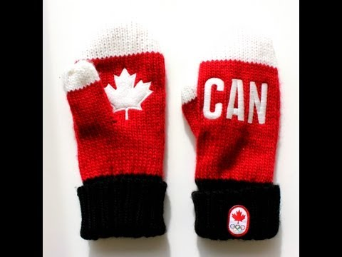 Canadian Olympic Team HBC Red Mittens Sochi 2014