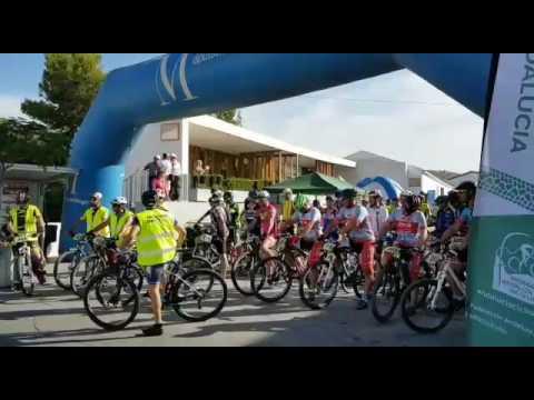 Impresionante salida de la 3º marcha cicloturista BTT, en Almáchar