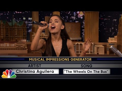 Video Wheel of Musical Impressions with Ariana Grande download in MP3, 3GP, MP4, WEBM, AVI, FLV February 2017