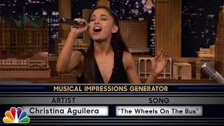 Wheel of Musical Impressions with Ariana Grande Video
