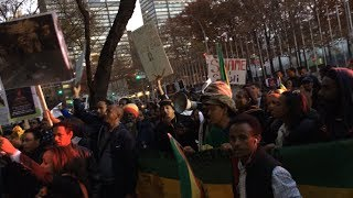 Ethiopians From NY And NJ - Protest Against Saudi Mission - New York City - We Demand Justice