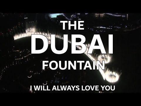 The Dubai Fountain Whitney Houston Tribute