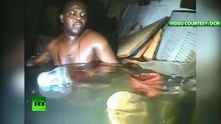 Чудесное спасение: выживший после кораблекрушения нигериец провел под водой 60 часов
