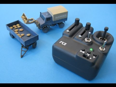"Well, it is doing its job pretty well. 3D-printed Micro RC Truck ""Unimog"" and Transmitter [11:02]"