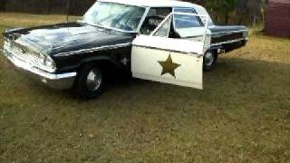 1963 galaxie 500 mayberry police car for sale (601) 677-2005