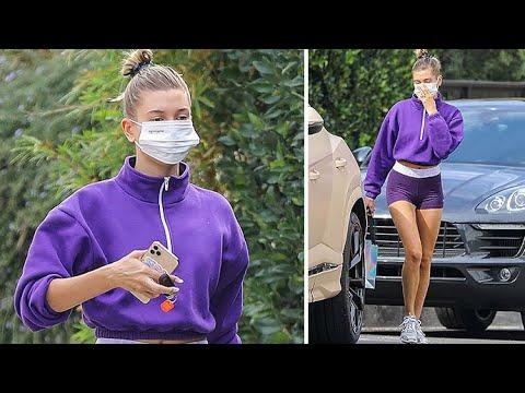Hailey Baldwin Is Poppin' In Purple!