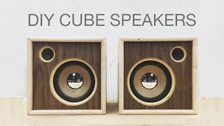 DIY Wooden Cube Speakers | Upcycling Old Speakers | Modern Builds | EP. 61