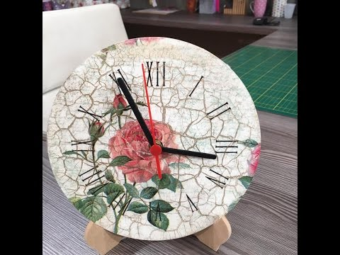 how to make a clock in decoupage