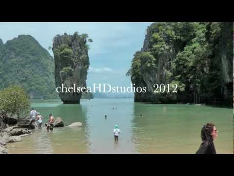 Phuket, Patong, James Bond Island, Andaman Sea, Thailand.  2012 FULL HD