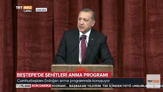 cumhurbaşkanı erdoğanın konuşması  beştepede şehitleri anma programı  trt avaz