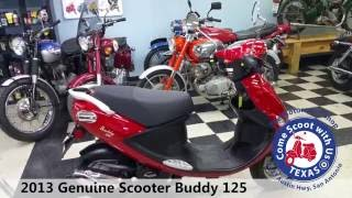 9. 2013 genuine scooter buddy 125 used scooter moped